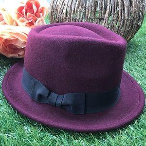 Maroon Wool Winter Hat